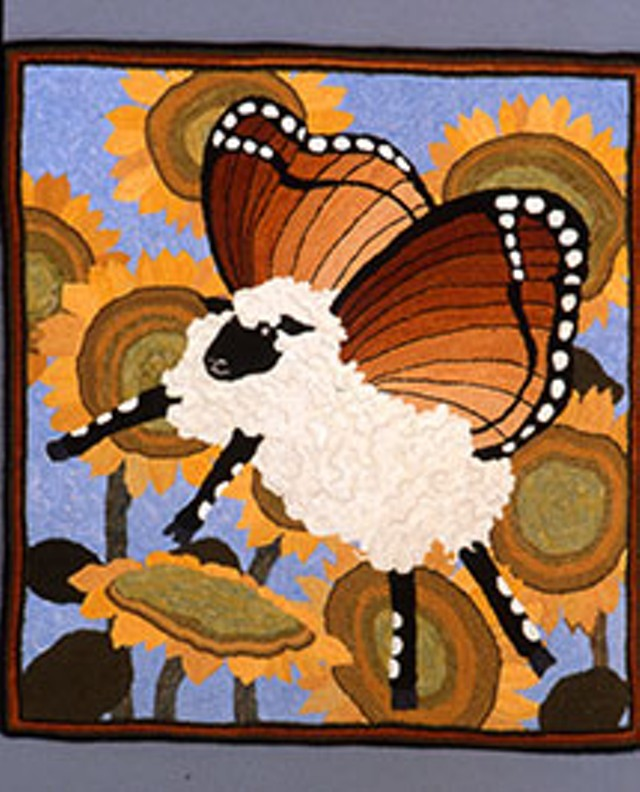 """W is for Wally, the Flying Horticulturalist,"" from Patty Yoder's book, The Alphabet of Sheep"