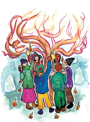 Wassailing the apple tree - SUE NORTON