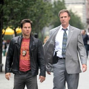 WATCHING THE DETECTIVES Ferrell and Wahlberg play a pair of mismatched cops in the latest comedy from Adam McKay.