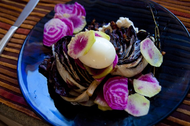 When shaved, chioggia beets and watermelon radishes look like flower petals. - HANNAH PALMER EGAN