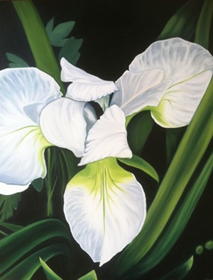 "COURTESY OF CHRISTY MITCHELL - ""White Iris"" by Anna Ayres"