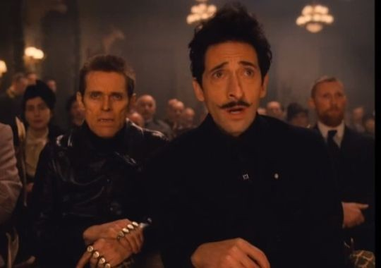 Willem Dafoe and Adrien Brody in Wes Anderson's The Grand Budapest Hotel