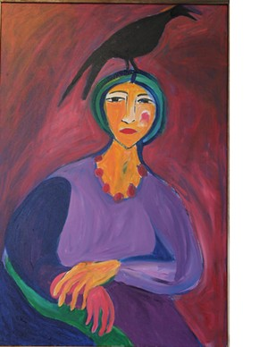 "CAROLYN MECKLOSKY - ""Woman With Crow"""