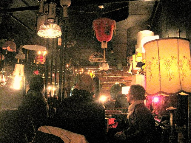 Yes, it's really a lamp shop. - ALICE LEVITT