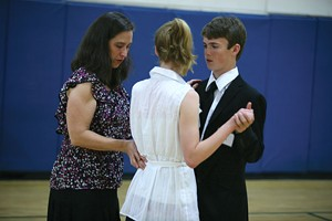 JORDAN SILVERMAN - Zack Evans and Callan Pucillo dancing with teacher, Maryanna Koehring