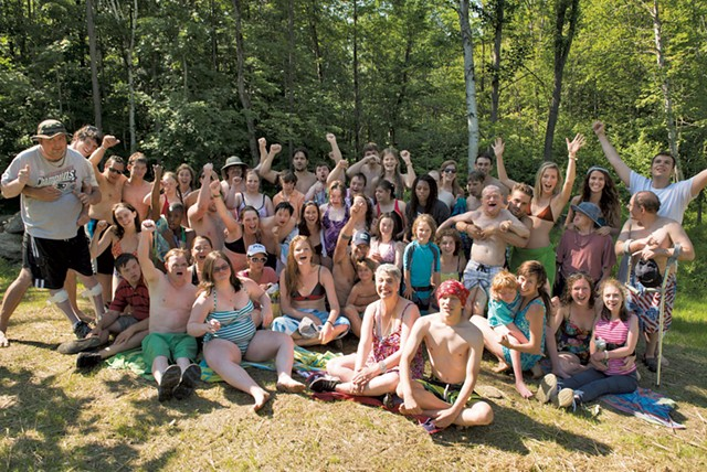 Zeno Mountain campers and volunteers