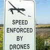Fake Drone Signs Try to Scare Drivers Into Slowing Down