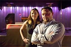 JAKE POEHLS - 1015's Lisa Mongelli and Joshua Carter.
