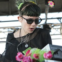 "20 Best San Francisco Concerts of 2012 17. Grimes at Treasure Island, February 22.      ""During a very bright and hot midafternoon set, Boucher came out in a freaky black hood and sunglasses, backed by two female musicians with their faces hidden in multicolored veils."" Kahley Avalon Emerson"