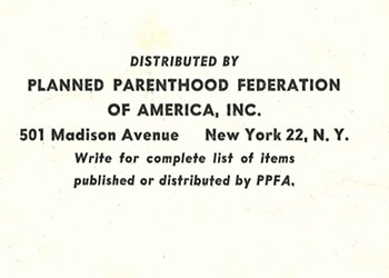 1951 Planned Parenthood Pamphlet Pretty Much Says Life Begins at Conception