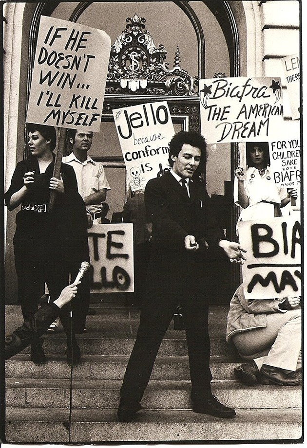 Punks go to the polls, November 1979. - VIA ALTERNATIVE TENTACLES