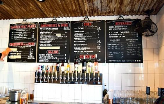 4505's new Divisadero menu. - JENN PRIES