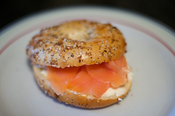 A bagel and lox is a break-the-fast tradition. But is it rabbi-approved? - BEN GOLUB/FLICKR