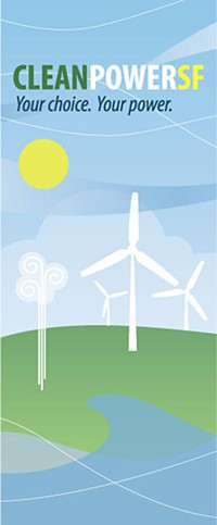 A brochure for CleanPowerSF