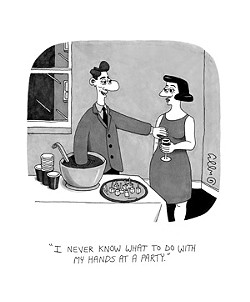A cartoon deemed unworthy by The New Yorker, but perfect for The Rejection Collection.