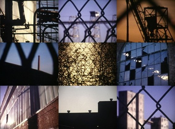 A collage of images from Clipson's film