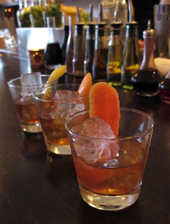 A flight of Negronis - LOU BUSTAMANTE