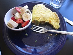 A half-eaten California omelette. It was too good to resist.