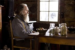 """A hermit (Robert Duvall) stages a """"living funeral"""" to hear what people think of him."""