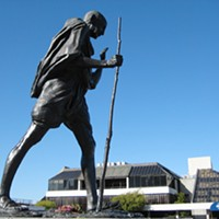 Best of 2008: People and Places Best Neglected Statue: Gandhi Monument Janine Kahn/SF Weekly