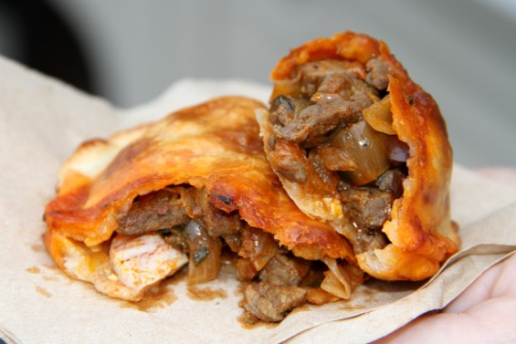 A look inside the Traditional empanada - LOU BUSTAMANTE