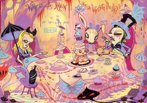 A mad tea party - CAMILLE ROSE GARCIA