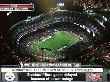 A night when a few more candlesticks would have been welcome at Candlestick