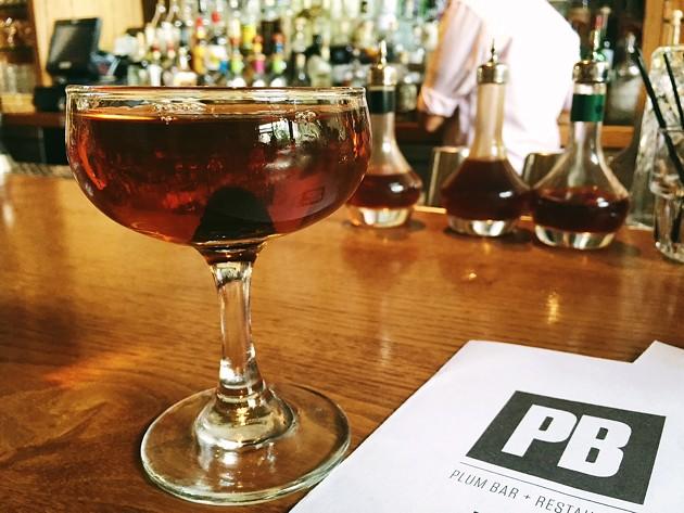 A Plum Bar Manhattan (with housemade coffee bitters). - BETTY WANG