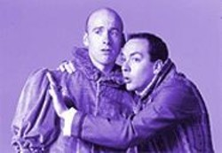 KEN  FRIEDMAN - A Private Joke: Sam Catlin and Liam Craig in Rosencrantz and Guildenstern Are Dead.