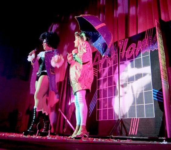 A purple umbrella for (duh) Purple Rain.