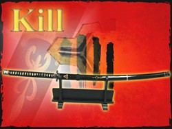 A replica of the Kill Bill Hattori Hanzo sword