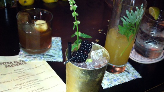 A selection of drinks from the last Jupiter Olympus - LOU BUSTAMANTE