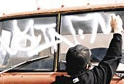 BENJAMIN  MORGAN - A tagger does his thing in Quality of - Life, screening Friday, Nov. 12.
