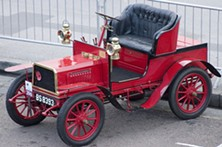 A trio of alleged serial robbers' distinctive red car (not this one) caught the SFPD's attention