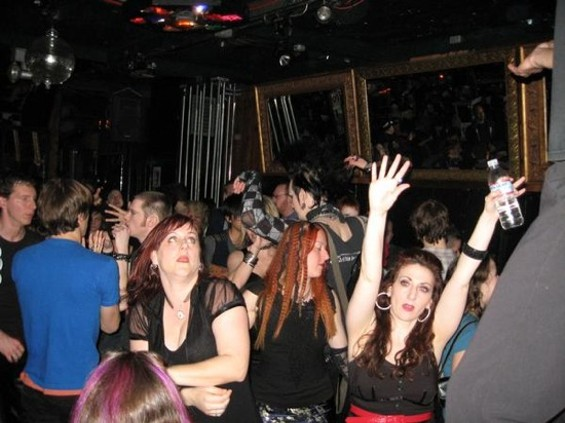 A typical crowd at the Dancing Ghosts darkwave party.