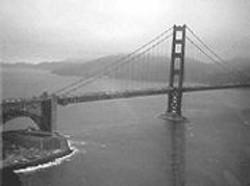 ROBERT  SWARNER - A whirlybird's-eye view of the Golden Gate.