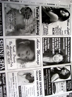 Adult ads in the SF Weekly.