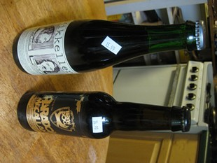 Aged in wood: Mikkeller's Big Worse, left, with Paradox Macallan from BrewDog. - ALASTAIR BLAND