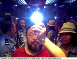 Ai Weiwei being taken into custody - COURTESY OF THE ARTIST