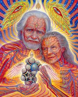 Alexander and Ann Shulgin, MDMA pioneers. - ALEX GREY