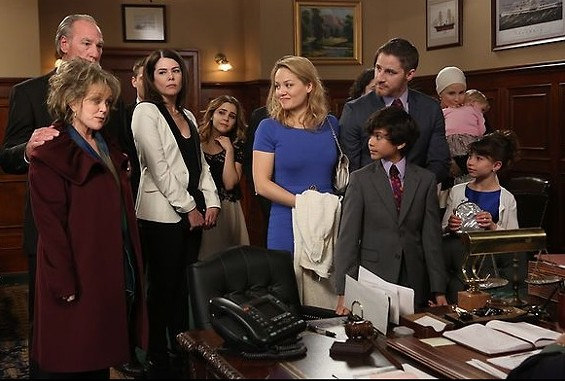 All of the Bravermans gather to attend Victor's adoption hearing. - PHOTO COURTESY OF NBC.COM.
