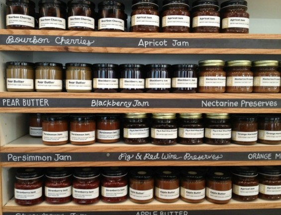 All sorts of jams and such are made in-house. - ANNA ROTH