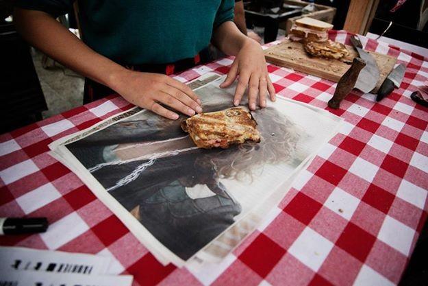 All that for a ham sandwich. - FACEBOOK/DE TOSTIFABRIEK