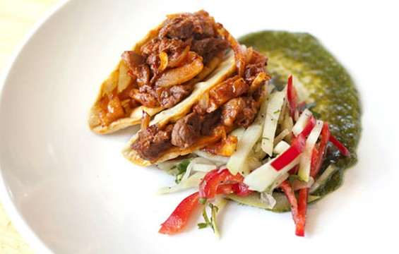 Alligator tacos at Gilberth's Rotisserie and Grill - LARA HATA