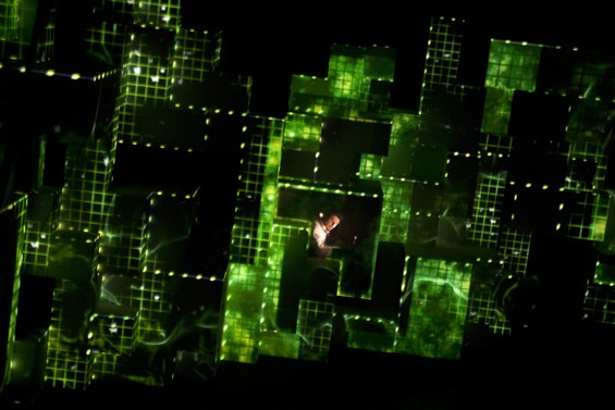 Amon Tobin performing during his ISAM show - ANNA GULBRANDSEN/CITY PAGES