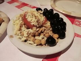 An 8-year-old's idea of a healthy salad. - ALEX HOCHMAN