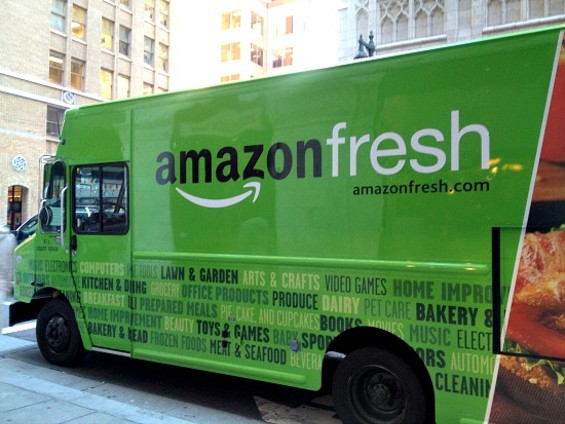 An AmazonFresh delivery truck spotted today at Bush and Montgomery. - ANNA ROTH