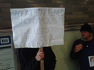 An Anonymous protesting Anonymous.