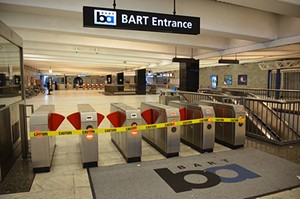 An empty BART station - FLICKR/STEVE RHODES