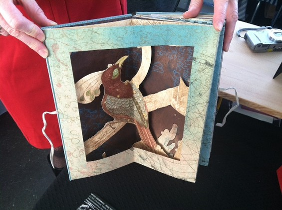 An etching pop-up book by Susan Lowdermilk of Eugene, Oregon